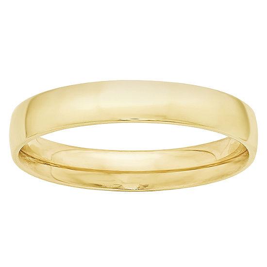 Womens 4MM 10K Gold Wedding Band