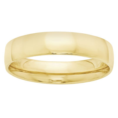 Mens 5MM 10K Gold Wedding Band
