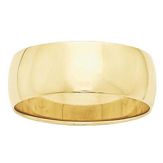8MM 10K Gold Wedding Band