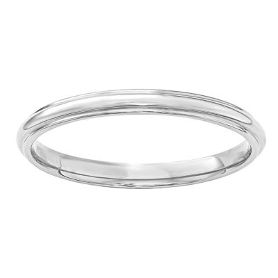 Womens 2.5mm 14K Gold Band