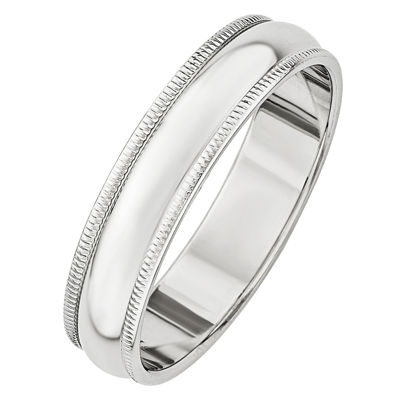Mens 5MM 14K Gold Wedding Band