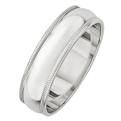 Womens 6MM 14K Gold Wedding Band