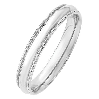 Mens 4mm 14K Gold Band