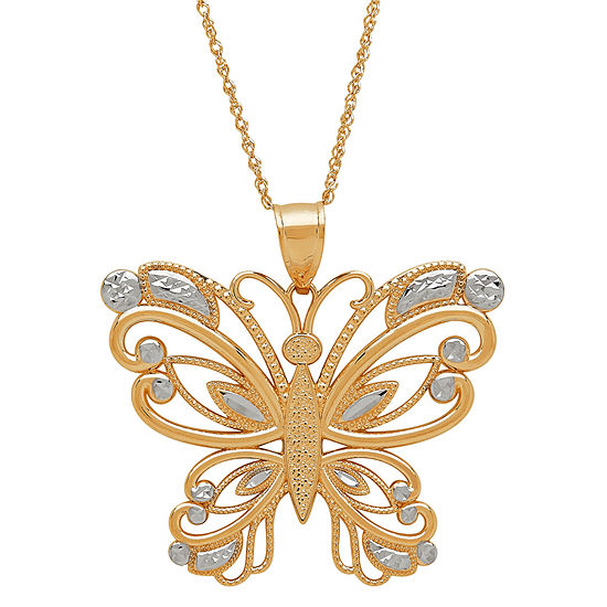 Limited Quantities! Womens 14K Gold Pendant Necklace