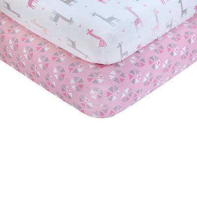 Nojo 2-pack Crib Sheet