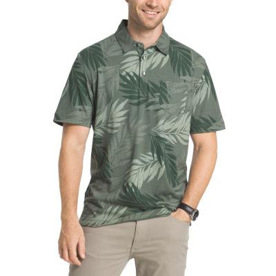 Van Heusen Short Sleeve Oasis Printed Polo Shirt