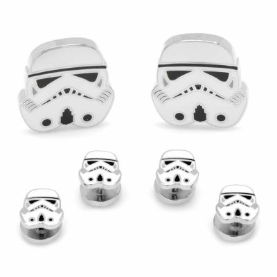 Star Wars® Storm Trooper Stud & Cuff Links Gift Set