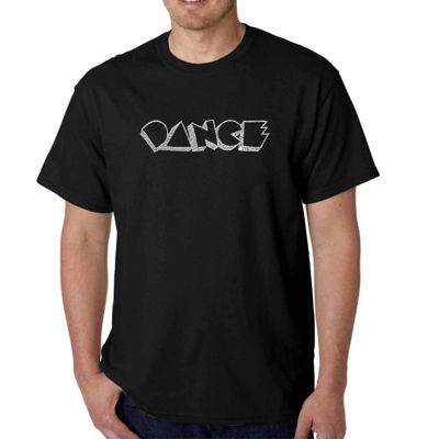 Los Angeles Pop Art Different Styles of Dance Short Sleeve Word Art T-Shirt - Big and Tall