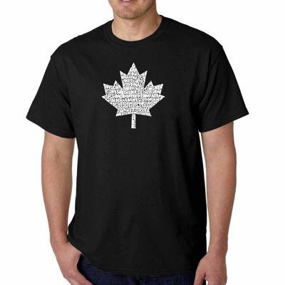 Los Angeles Pop Art Canadian National Anthem ShortSleeve Word Art T-Shirt - Big and Tall
