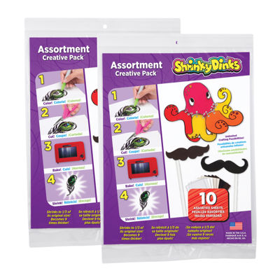 Shrinky Dinks Creative Pack 20 Sheet Pack Assortment