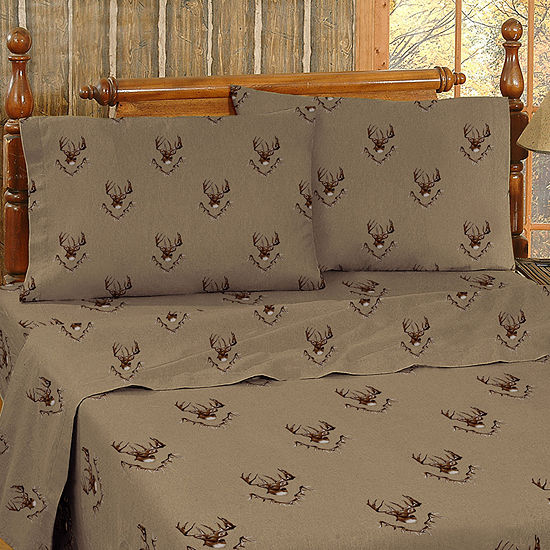 Blue Ridge Trading Whitetail Ridge Sheet Set Twin Cotton Sheet Set