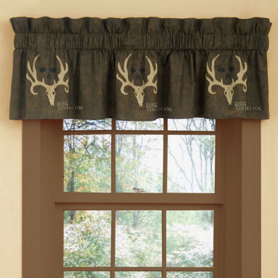 Bone Collector Brown Valance