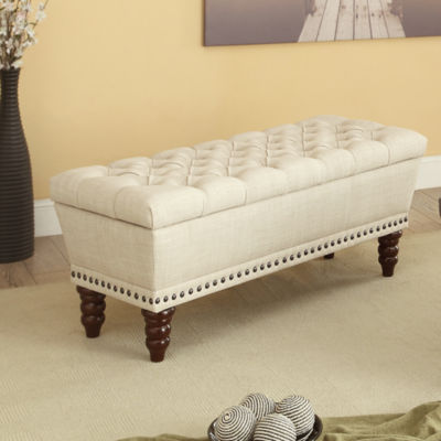 Hampton Fabric Tufted Bench