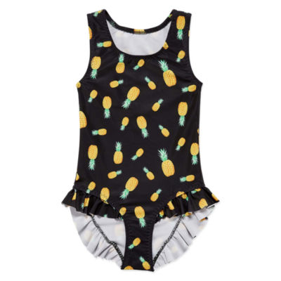 City Streets Pattern One Piece Swimsuit Toddler Girls