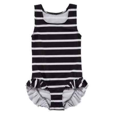 City Streets Striped One Piece Swimsuit Toddler Girls