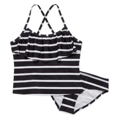 City Streets Girls Stripe Tankini Set - Preschool