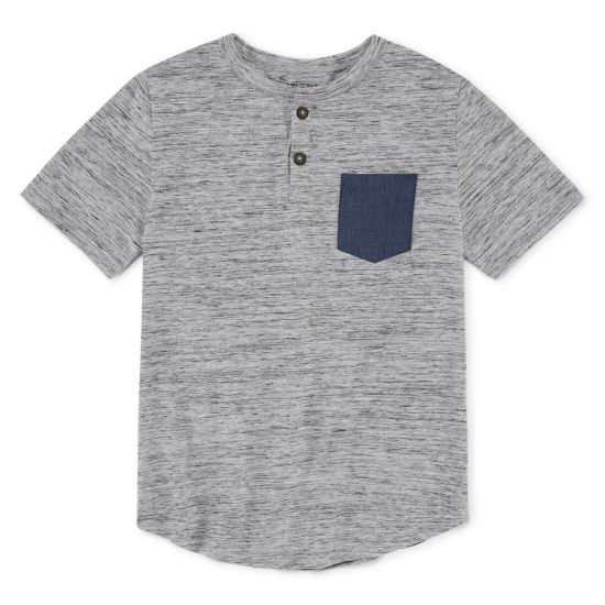 Arizona Short Sleeve Henley Shirt Boys 4-20