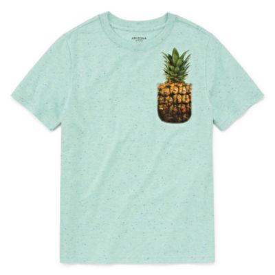 Arizona Short Sleeve Pocket T-Shirt Boys 4-20 Regular & Husky