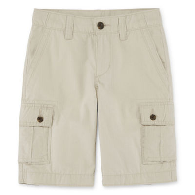 Arizona Solid Cargo Shorts Boys 4-20, Slim & Husky