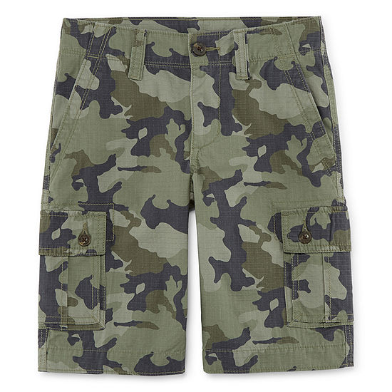 Arizona Boys Stretch Adjustable Waist Cargo Short