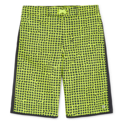 Xersion Grid Print Swim Trunk - Boys 4-20 & Husky