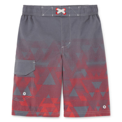 Xersion Triangle Print Swim Trunk - Boys 4-20 & Husky