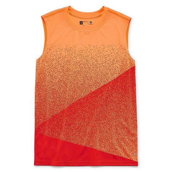 Xersion Ombre Muscle Boys Crew Neck Short Sleeve Dri-Fit Muscle T-Shirt Preschool / Big Kid