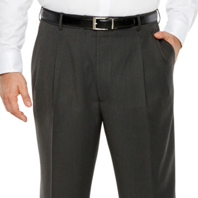 Stafford Mens Classic Fit Pleated Pant - Big and Tall