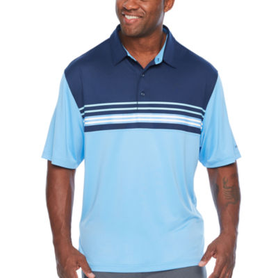 IZOD Sport Color Block Stripe Printed Polo Short Sleeve Stripe Knit Polo Shirt Big and Tall