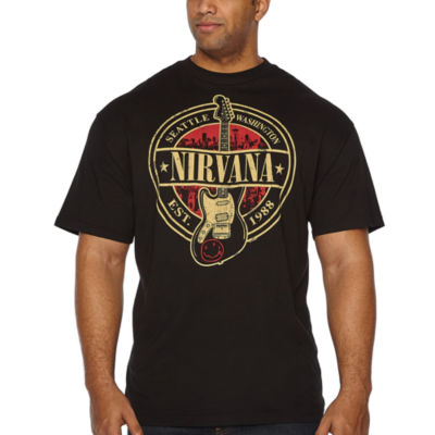 Nirvana Est 1988 Short Sleeve Graphic T-Shirt-Big and Tall