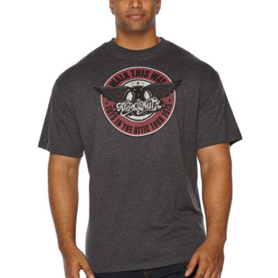 Aerosmith Short Sleeve Graphic T-Shirt-Big and Tall