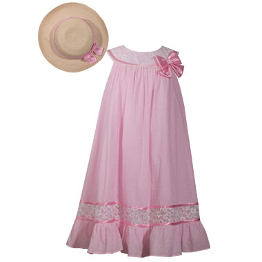 Bonnie Jean 7-16 Sleeveless Dress With Hat
