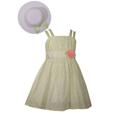 Bonnie Jean Sleeveless Toddler Dress With Hat