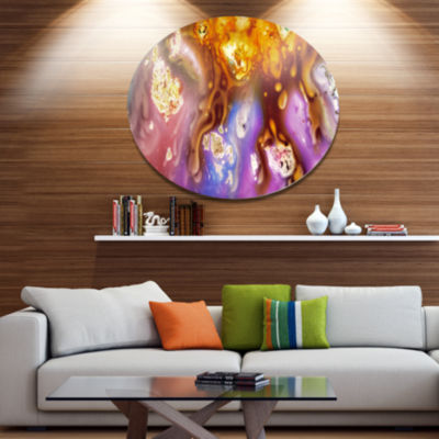 Design Art Colorful Precious Patterns Disc Abstract Metal Circle Wall Art