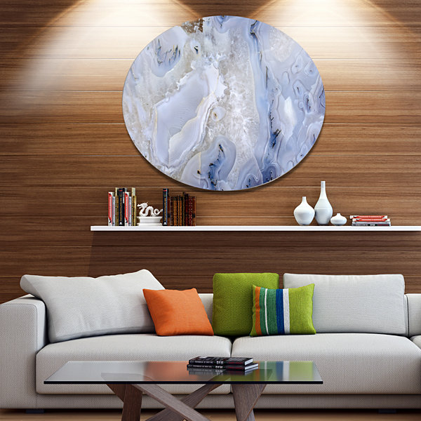 Design Art Agate Stone Background Disc Abstract Metal Circle Wall Art Print