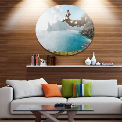 Design Art Hout Bay from Chapman Peak Disc Seashore Photo Metal Circle Wall Art