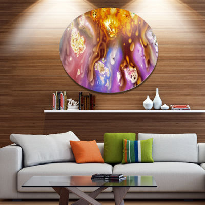 Design Art Colorful Precious Patterns Disc Abstract Metal Circle Wall Art