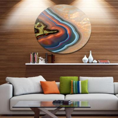 Design Art Abstract Mineral Texture Disc AbstractMetal Circle Wall Art