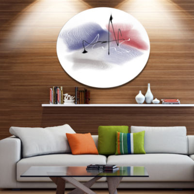 Design Art Abstract Multicolor Flowers Disc LargeAnimal Metal Circle Wall Art