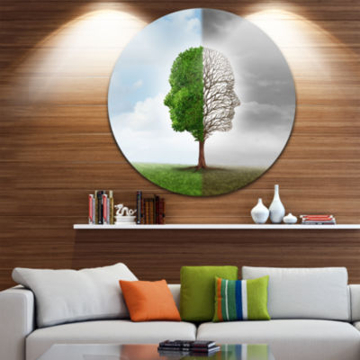 Design Art Human Emotion Disc Contemporary CircleMetal Wall Art