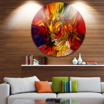 Design Art Illusions of Stained Glass Abstract Metal Artwork