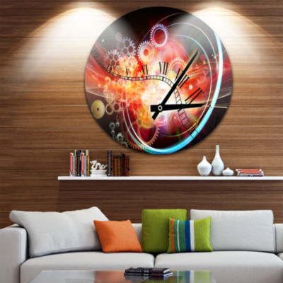 Design Art Interesting Clock Disc Contemporary Circle Metal Wall Art