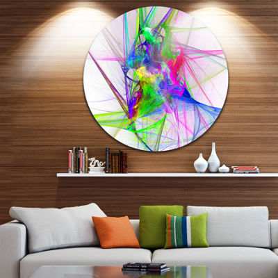 Design Art Glowing Ball of Smoke Abstract Circle Metal Wall Art