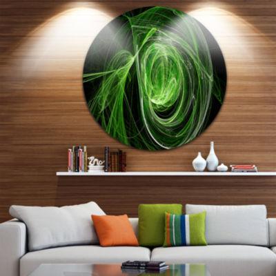 Design Art Green Ball of Yarn Disc Abstract CircleMetal Wall Art