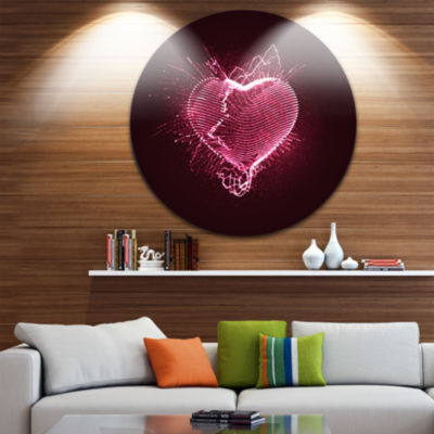 Design Art Happy ValentineÕs Day Abstract CircleMetal Wall Art