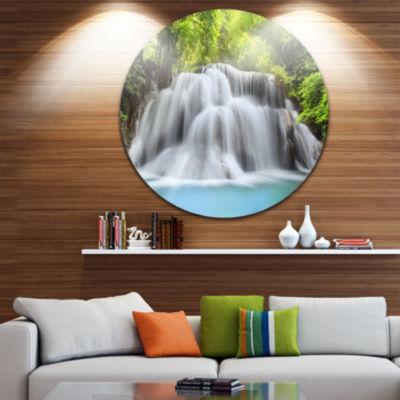 Design Art Huai Mae Kamin Waterfall Disc Photography Metal Artwork Print