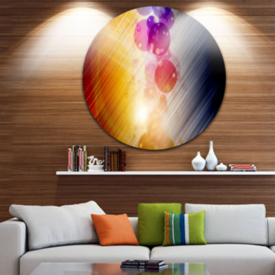 Design Art Glowing Colored Spheres Abstract CircleMetal Wall Art
