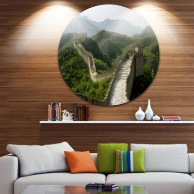 Design Art Great Wall of China Disc Photography Circle Metal Wall Art