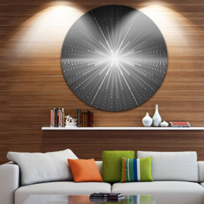 Design Art Glowing Star in Cosmic Galaxy AbstractRound Circle Metal Wall Decor Panel