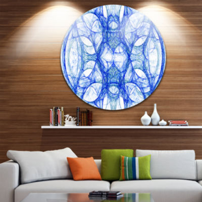 Design Art Head of Iron Knight Abstract Circle Metal Wall Art